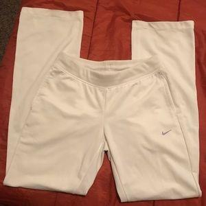 White nike dri fit pants like new